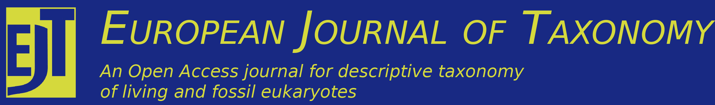European Journal of Taxonomy logo and journal title