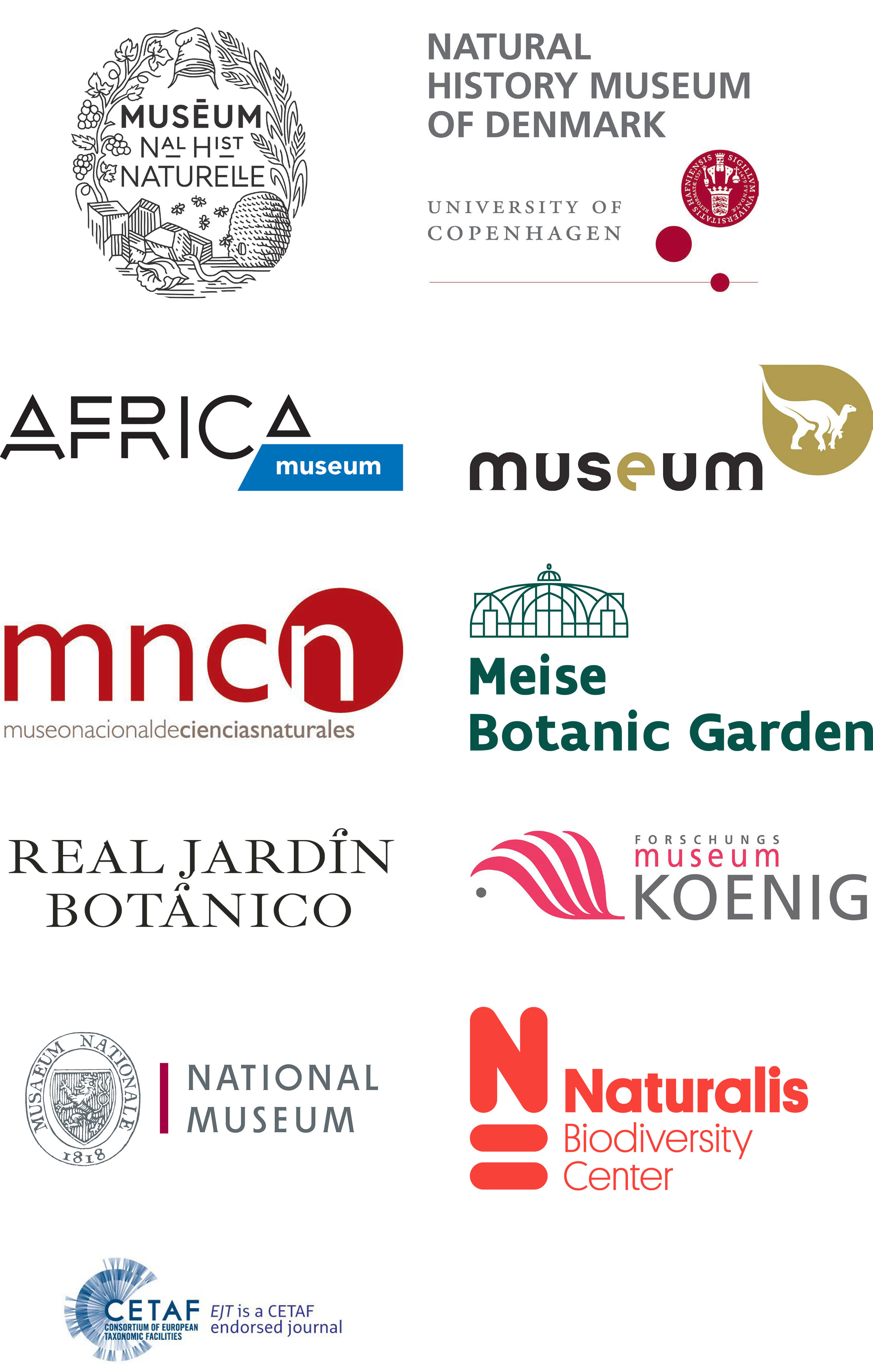 Institutions logos EJT Consortium